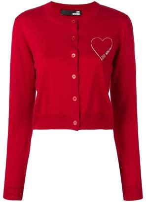 Love Moschino logo cardigan
