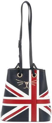 Charlotte Olympia Union Jack Feline Bucket Bag