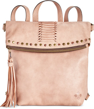 Patricia Nash Washed Denim Luzille Convertible Backpack $199 thestylecure.com