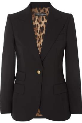Dolce & Gabbana Wool-blend Blazer - Black
