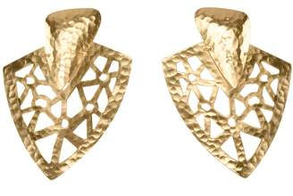 Natori Josie Goldplated Brass Cutout Earrings