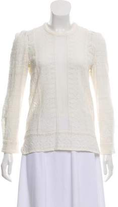 Isabel Marant Embroidered Crew Neck Top