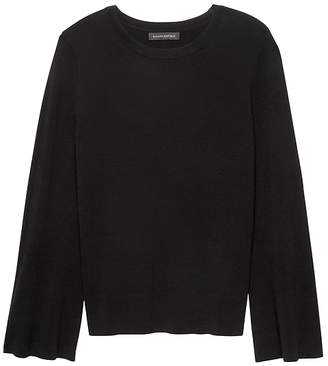 Banana Republic Milano Stitch Flare-Sleeve Sweater