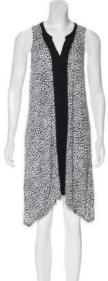 DKNY Animal Print Midi Dress