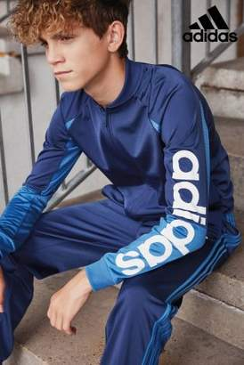 Next Boys adidas Blue Linear Tracksuit