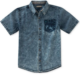 Calvin Klein Release Hem Denim Shirt, Big Boys