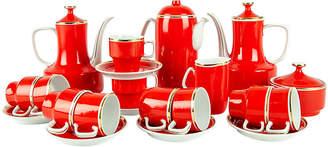 One Kings Lane Vintage Porcelain Expresso Service Set - La Maison Supreme