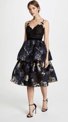 Marchesa Two Tiered Cocktail Dress