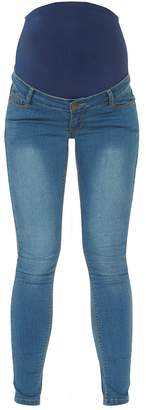 Dorothy Perkins Womens **Maternity 'Forever Fit' Midwash Superskinny Convertible Jeans