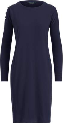 Ralph Lauren Button-Trim Jersey Dress