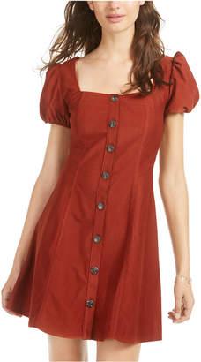 Sequin Hearts Juniors' Button-Front Dress