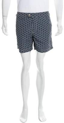 Tom Ford Geometric Print Swim Trunks w/ Tags