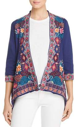 Johnny Was Quinn Embroidered Cardigan