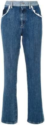 Miu Miu lace trim denim jeans
