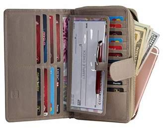 Mou Meraki Women RFID Blocking Real Leather Wallet-Clutch For Women-Shield Against Identity Theft ()