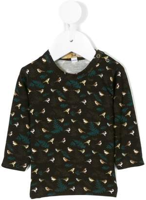 Gold Belgium birds print blouse