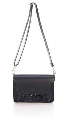 Lisa Minardi Snake Embossed Crossbody Bag
