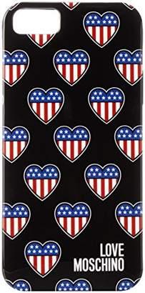Love Moschino (ラブ モスキーノ) - [ラブモスキーノ] Love Moschino IPHONE CASE BW0240052 9 (クロ)