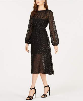 AVEC LES FILLES Heart-Applique Dress
