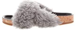 Chloé Shearling Slide Sandals