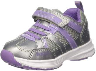 Geox Girl's J Top Fly G. A Sneakers, Silver/Lilac