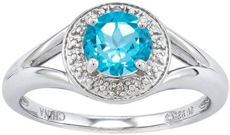 Sterling Round Faceted Birthstone Ring