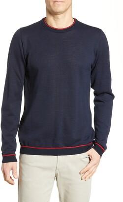 Bugatchi Regular Fit Ottoman Stitch Sweater