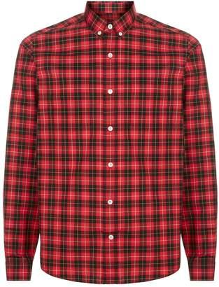 Ami Paris Check Button Down Shirt