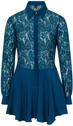 Sophie Cameron Davies - Teal Lace Dress
