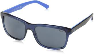 Polo Ralph Lauren Polo 4098 556387 Black Blue 4098 Rectangle Sunglasses Lens Category 3