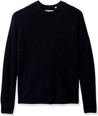 Ben Sherman Men's Crew Neck Sweater with Contrast Tipping