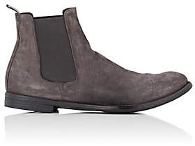 Officine Creative Men's Washed Suede Chelsea Boots-Gray