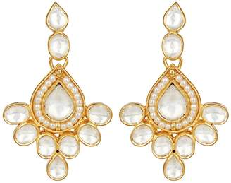Crystal Pearl Carousel Jewels - Elegant Crystal & Pearl Drop Earrings