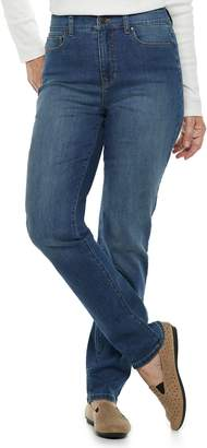 Croft & Barrow Women's Classic Curvy Straight-Leg Jeans