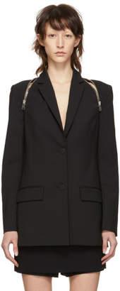 Alexander Wang Black Tailored Zipper Blazer