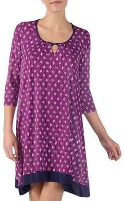 Ellen Tracy Knit Printed Sleep Gown