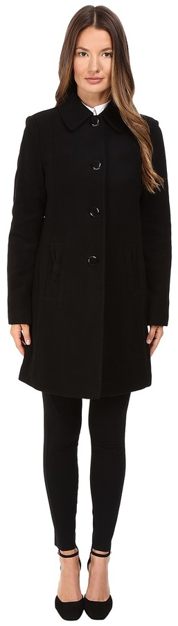 Kate Spade Kate Spade New York - 4-Button A-Line Single Breasted Coat w/ Bow Pockets Women's Coat