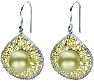 Pearls 14K Plated 9-10Mm South Sea Pearl Earrings