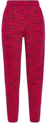 M Missoni Printed Stretch-knit Tapered Pants