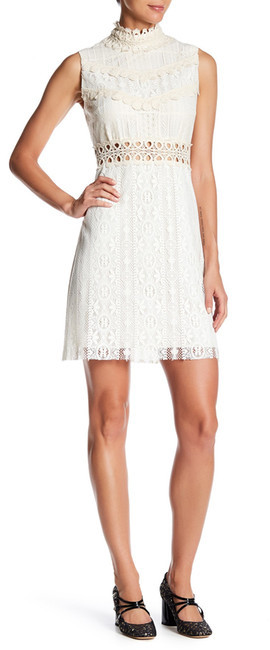 Anna SuiAnna Sui Knit Lace High Neck Dress
