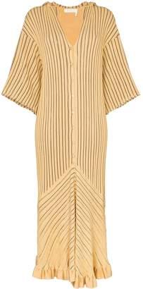 Chloé striped hooded midi dress