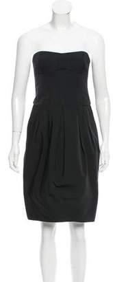 Derek Lam Pleated Strapless Dress