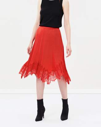Whistles Dahlia Pleated Lace Skirt