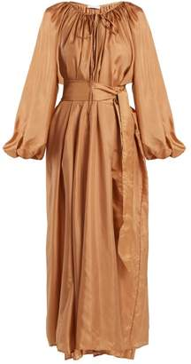 Kalita - Andromeda Silk Maxi Dress - Womens - Amber