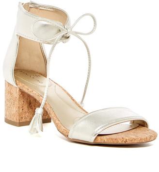 Bandolino Semise Metallic Ankle Tie Sandal $59 thestylecure.com