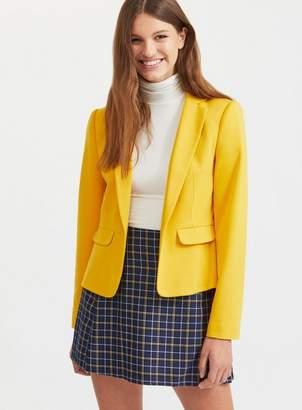 Miss Selfridge Ochre winter ponte jacket