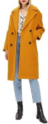 Topshop Boucle Button Front Coat