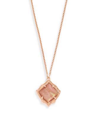 Kendra Scott Kacey Long Pendant Necklace in Rose Gold