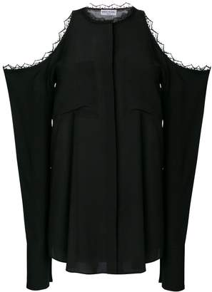 Sonia Rykiel oversized cold shoulder blouse
