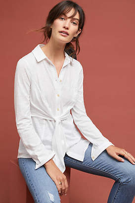 Maeve Claudette Front-Tie Buttondown